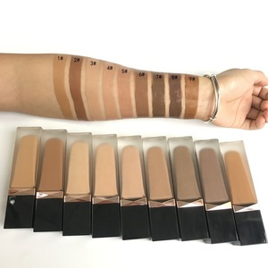 Private label long lasting full coverage makeup liquid foundation for dark skin