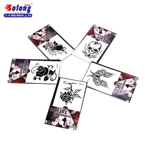 Solong Tattoo Skull design Waterproof Temporary Tattoo Sticker