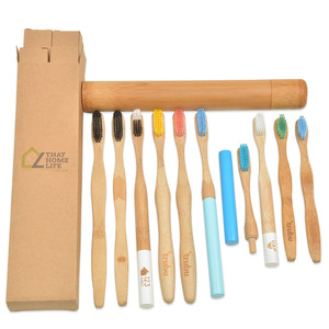 wholesale charcoal 4 pack bamboo toothbrush,bamboo tooth brush