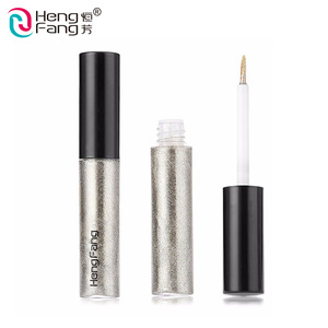 Wholesale cosmetics make up no brand waterproof glitter colorful brightening liquid eyeliner