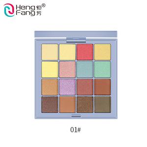 Wholesale Private Label Rich 16 Colors Cosmetic  Waterproof Custom Makeup Glitter Eyeshadow Palette