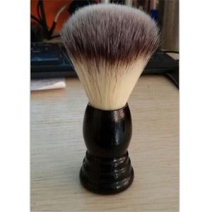 wooden handle synthetic fiber nylon badger hair men beard shaving brush