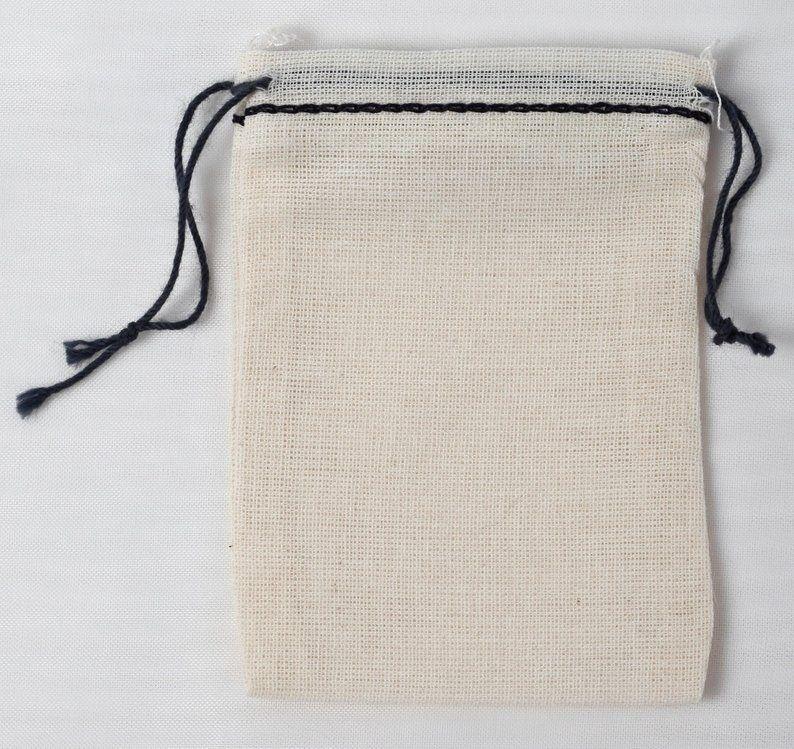 Cotton Muslin Bag, Cotton Pouch, Party Favor Bag, Cotton Wedding Bag