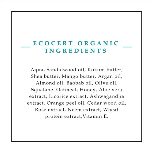 Timeless Beauty Secrets Organic Royal Mysore Sandal Deeply Nourishing Moisturizing Luxurious Hand & Body Butter
