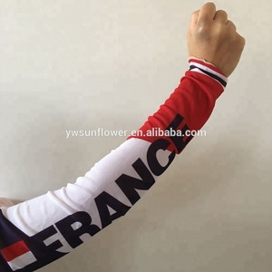 2018 football body art custom logo france flag printing seamed spandex arm tattoo sleeve