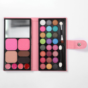 Eyeshadow  Palette  Leather Bag Packing  Eyebrow powder, Blusher, Face Powder, Lipgloss, Makeup Set