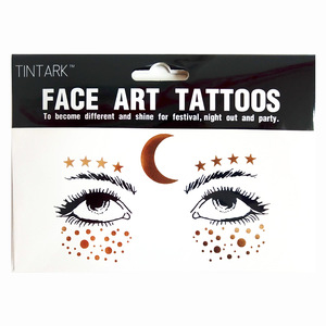 Fashion gold flash body tatoo art temporary face tattoo