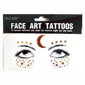 Fashion gold flash body tatoo art temporary face tattoo