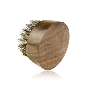 High Quality Massage color black walnut  Beard Round Brush