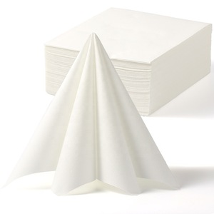 Lekoch 2-Ply Air-Laid one box Disposables Paper Napkins In White 50PCS