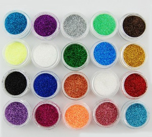 Professional Acrylic Nail art color acrylic brand Glitter powder