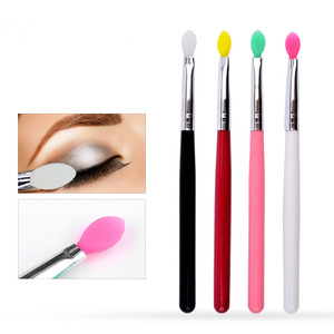 Silicone Make Up Eye Shadow Stick Brush Applicators