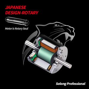 Solong Manufacturer Black strong Japan motor Hybrid cnc aluminum rotary maxon  tattoo machine gun pen