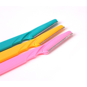 Wholesale 3pc/set plastic eyebrow trimmer
