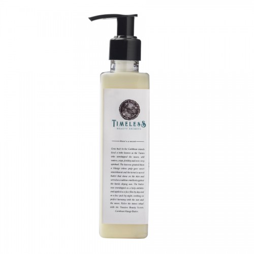 Timeless Beauty Secrets Organic Mango Butter Brightening, Softening, Luxurious Hand & Body Lotion