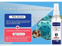 hospital grade use 75% disinfectant alcohol,75 degree alcohol antibacterial disinfectant