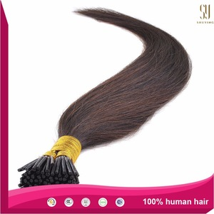 2015 top sale prebonded hair extension, cheap remy i tip hair extensions in stock