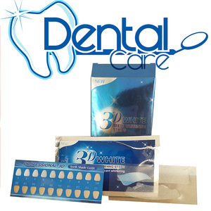 28 Premium Pcs/14Pair 3D White Gel Teeth Whitening Strips Oral Hygiene Care Double pieces  Whitening dental Strips
