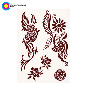 custom made floral henna mehndi temporary tattoo sticker
