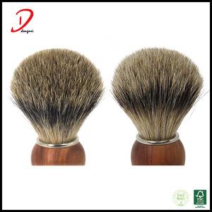 High end rose wooden handle badger hair Shaving brush with engrave label