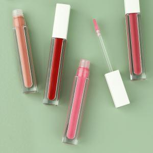 White cover square tube waterproof  high-end  hydrating matte vegan lip gloss