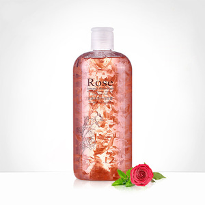 wholesale 500ml Flower petals Rose Jasmine Marigold Chamomile liquid moisturizing body wash skin whitening shower gel oem