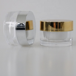 wholesale cosmetic packaging hot sale plastic cream jar customized color round acrylic jar 15 30 50 ml