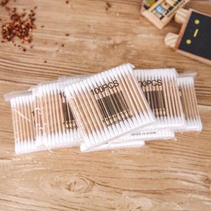 Wholesale High quality Disposable Makeup/ Remove makeup double stick Cotton buds