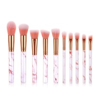 10pcs Professional Private Label Makeup Brush Kit Marble Design Face Makeup Brushes  1 buyer