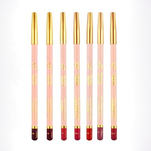 Beauty Tools Wholesale Easy Use 7 Colors Matte Lip Liner Pencil Waterproof Cosmetic Makeup Lip Pencil With Low Price