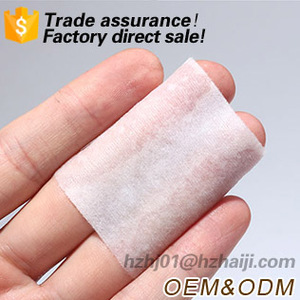disposable square single layer cotton pads for face 6x7cm