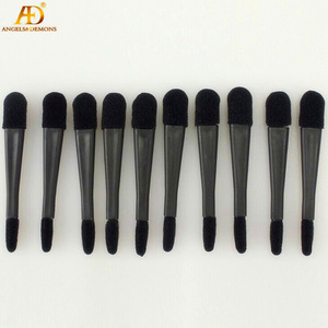 Fashion Double Head Plastic Handle & Sponge Black color Eye Shadow Applicator