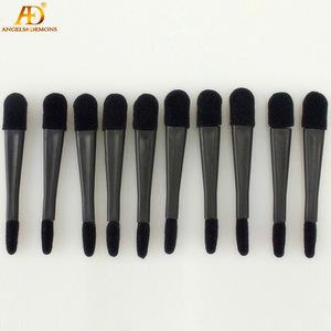 Fashion Double Head Plastic Handle & Sponge Black color Eye Shadow Applicator