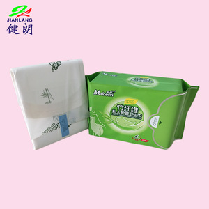 Feminine Hygiene Organic Bamboo Charcoal Fiber Sanitary Napkin Pads With Negative Ion