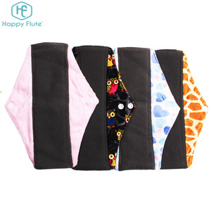 Happy Flute Reusable Washable Feminine Hygiene Cloth Menstrual Pads Sanitary Pad