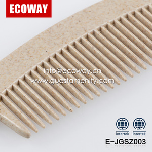 hotel eco-friendly plastic comb biodegradable hotel hair combs