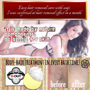 Japanese K-OUT hair removal soap for wholesale beauty supply