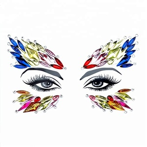Lowest Price festival face gems crystal body jewel tattoo stickers face gems for eyes