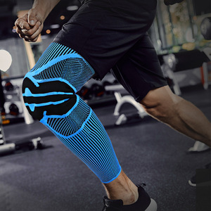 New design silica gel nylon sports kneepad calf compression knee sleeves for gym safety