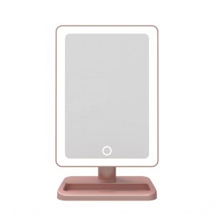 New style Desktop Vanity Led  Mirror With Bluetooth Speaker and light stril mirror with 3 color light dimmer