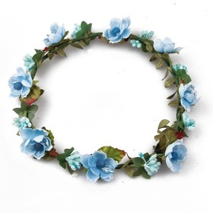 New style wedding flower garland hair band girls artificial flower crown, flower headband
