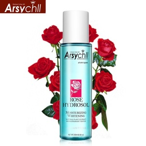Private label wholesale organic pure skin care whitening hydrosol rose water