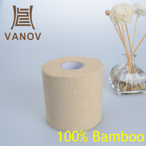 Ultra-Soft Plush Luxury 4ply Toilet Paper with Bamboo Raw Material