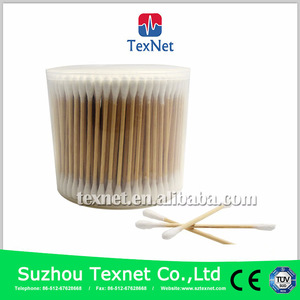 2017 Texnet Wood Stick Two Sided sterile cotton bud