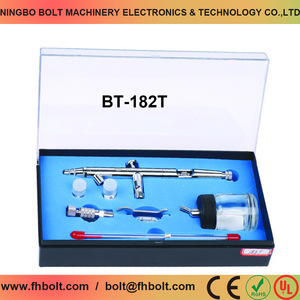 Double Action Gravity Feed Airbrush Used For Body Painting / Cake Decorating / Nail Painting