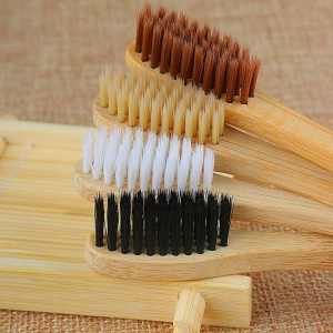 Eco-Friendly Designed Bamboo Toothbrush Ultra Soft Fiber Bamboo Charcoal Brush Teeth Cleaning BPA Free