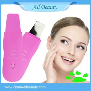 face home use mini ultrasonic skin scrubber device/ scrubber facial clean /absorb /repair skin care machine