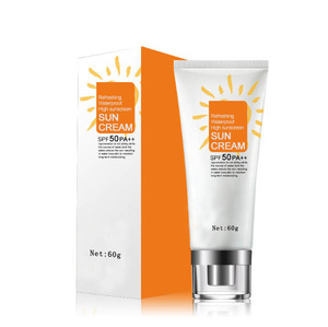 High quality Natural moisturizing and whitening waterproof Sunscreen cream SPF50 PA++