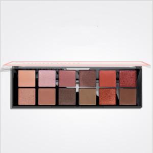 Hot Selling Portable Transparent lid matte shimmer 12 color Eyeshadow Palette
