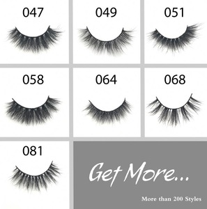 Hot Selling Synthetic Barcode 3d Fiber 3d Silk Lashes